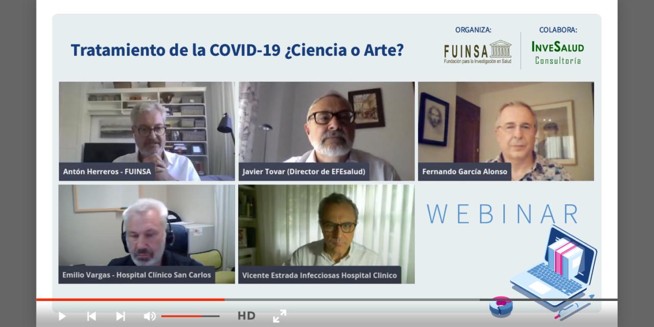 """Expertos apuntan a la investigación clínica como """"herramienta fundamental"""" para enfrentarse a la COVID-19 en un webinar organizado por Fuinsa"""